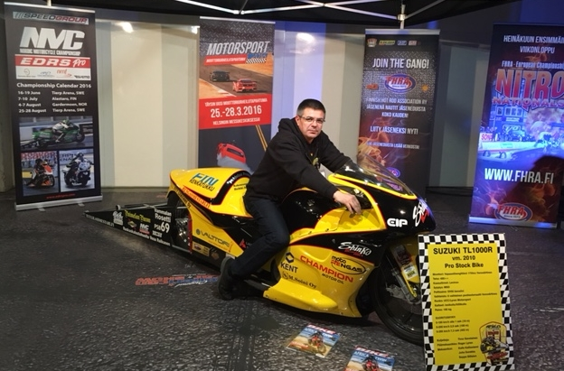 Pro Stock Motorcycle driver Timo Savolainen
