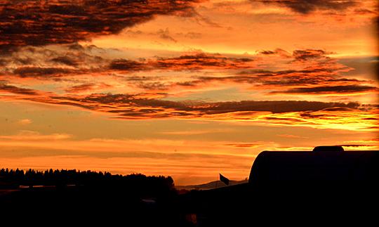 Solnedgång Tierp