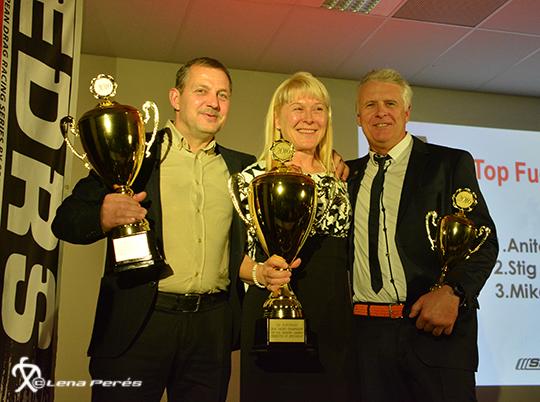 FIA Top Fuel Stig Neergaard, Anita Mäkelä, Mikael Kågered
